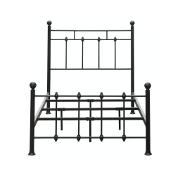 Shaker Metal Bed - Black