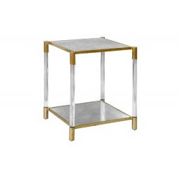 Square Glass Acrylic End Table