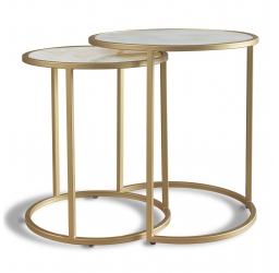 Calacatta Nest of Tables - Gold